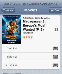 Madagascar Movie Times