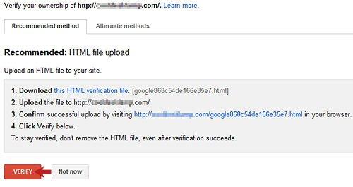 Non www Site Verification
