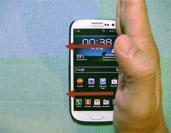 Swipe Palm to Capture Screenshot