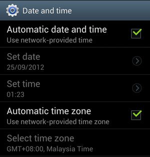 How to set Date and Time on Samsung Galaxy S3 ? - WEBCAZINE