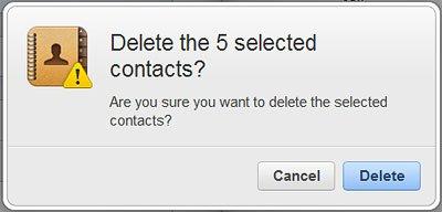 Delete Confirmation Window