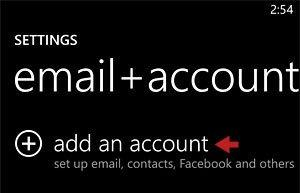 Add an Account Option