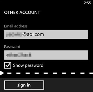 Other Account Screen