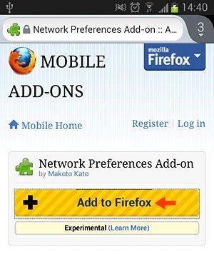 Add to Firefox Option
