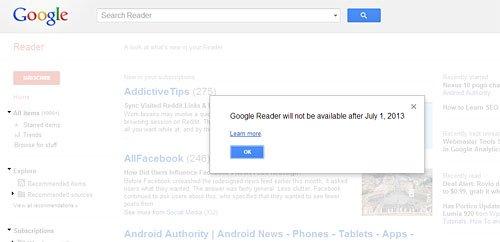 Google Reader Announcement