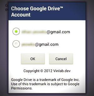 choose google drive account
