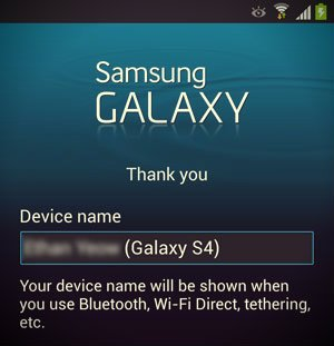device name screen