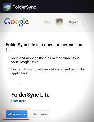 foldersync request permission