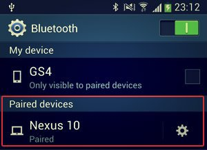 paired devices