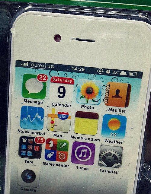 fake iphone with durex network