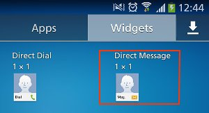 direct message widget