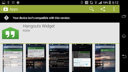 hangouts widget app description
