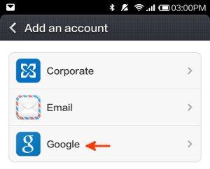 add an account screen