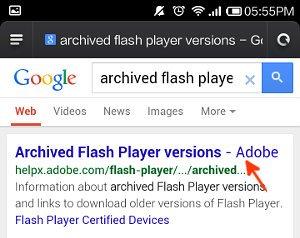 browser and google result