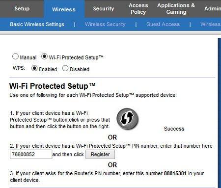 cisco router wps