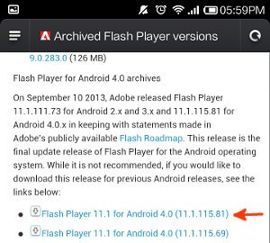flash player download link