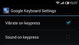 google keyboard settings