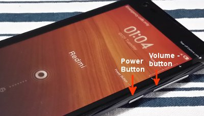 redmi physical buttons
