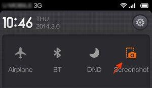 redmi screenshot button
