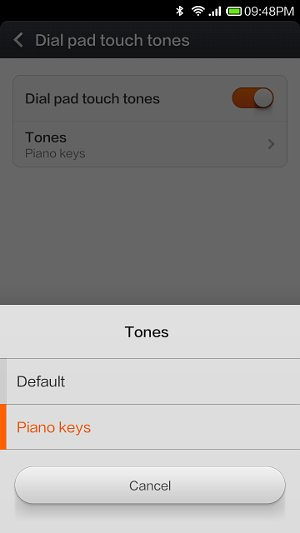 dial pad touch tones