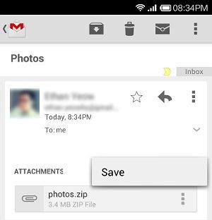 gmail zipped attachment