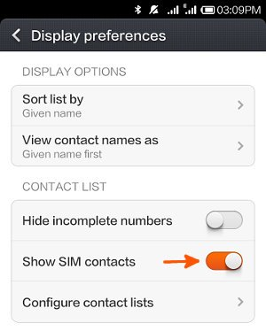 How to manage SIM card contacts on Xiaomi Redmi ? - WEBCAZINE