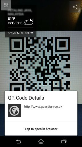 z1 scan qr code