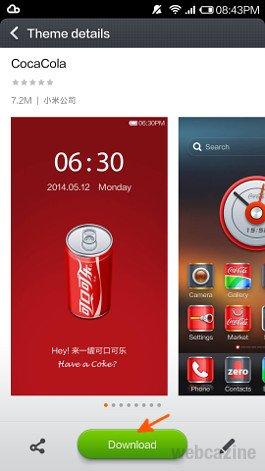 How to change your Mi 3 phone theme ? - WEBCAZINE