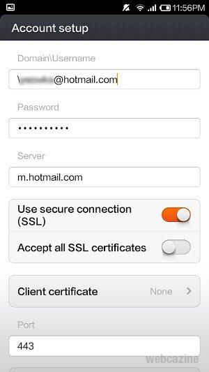 redmi hotmail setup_7