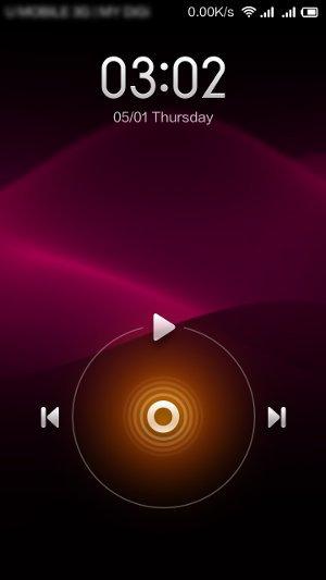 redmi lock screen music control