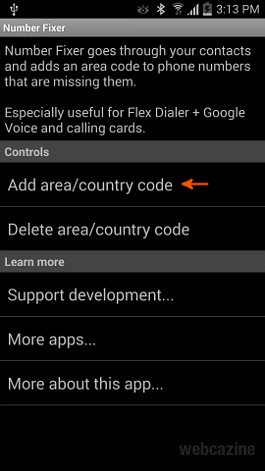 How to add prefixes to all phone numbers on Android Contacts