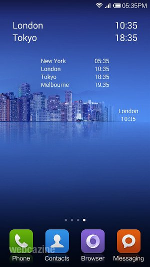 How to show dual clock of different cities on Xiaomi phone's home