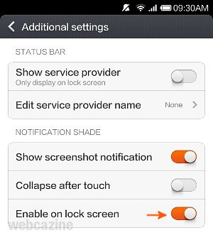 How to display notifications on Xiaomi phone's lock screen ? - WEBCAZINE