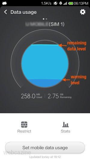 xiaomi data usage_4