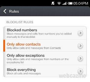 xiaomi block unknown calls