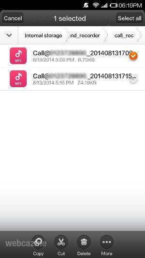 xiaomi delete recording
