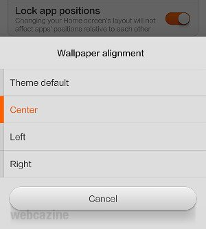 How to disable wallpaper scrolling on Xiaomi phone (MIUI V5