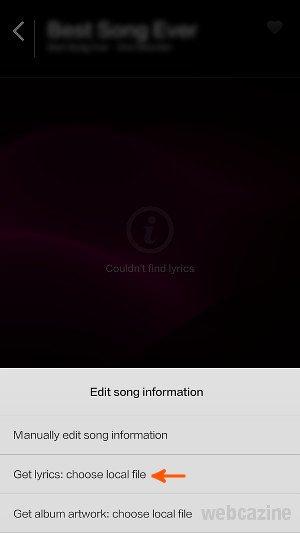 xiaomi add lyrics_1