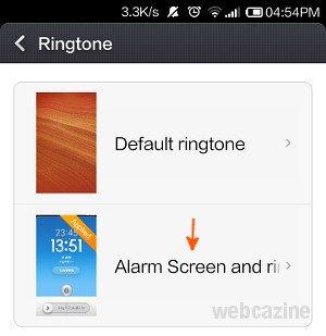 xiaomi alarm screen_1