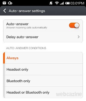 How to answer calls on Xiaomi phone (MIUI V5) without