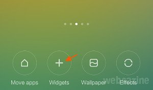MIUI 6: How to add a widget on your Xiaomi phone home screen