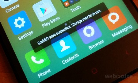 """Q&A: MIUI 6: How to fix """"Couldn't save screenshot  Storage"""