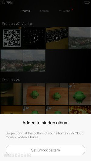 MIUI 6: How to add photos to the hidden album in Gallery? - WEBCAZINE