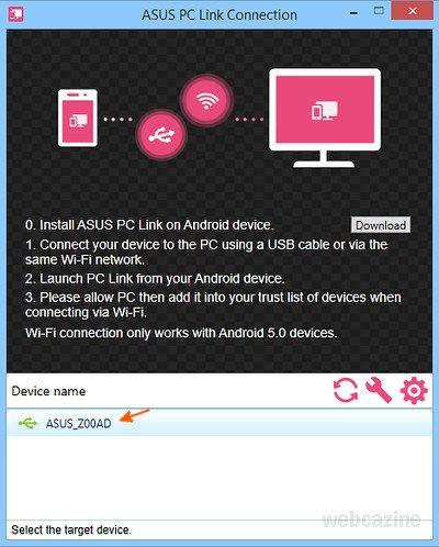How to take screenshots of your ZenFone 2 using PC Link