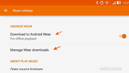 google play music offline smartwatch