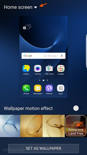 Q A Galaxy S7 Edge How To Set A Live Wallpaper