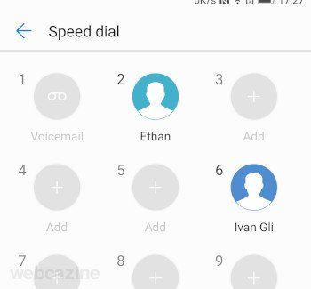 honor8 speed dial