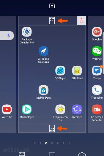 galaxys8 align app icons