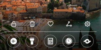 Mate10 lockscreen quick controls