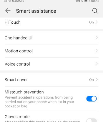 Mate10 mistouch prevention